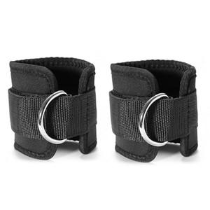 Регулируемые ремни D-ring (пара) для кабельных станков Тренировки на шкиве для ног Тренажерный зал для тяжелой атлетики Унисекс для мужчин и женщин