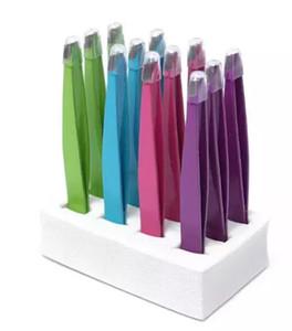 Heiße verkaufendes 24X bunter Edelstahl Slanted Tip Schönheit Augenbrauen-Pinzette Haarentfernung Werkzeug LowestPriceBest freies Verschiffen Förderung