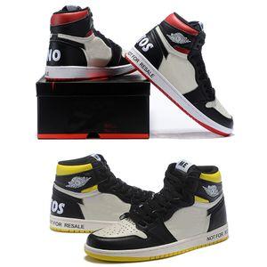 Mais novo Hot sale 861428-106 1 Alta OG NRG Nenhum L'S Pacote 1S Vela Preto-Varsity Red Men moda casual sapatos casuais Com Caixa