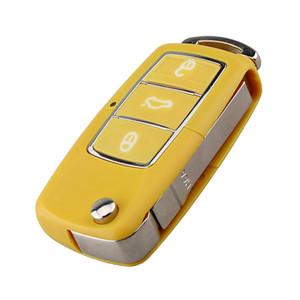 3 Botão Virar Dobrável Sem Cortes Lâmina Caso Chave Do Carro Remoto para Volkswagen VW Golf Jet Passat Polo Jetta Touran Bora Sharan