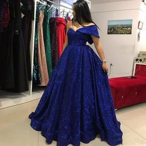 Azul marinho Lantejoulas Prom Vestidos de Um Ombro A Linha Vestidos de Noite Arábia Saudita Até O Chão Formal Vestido de Festa Custom Made