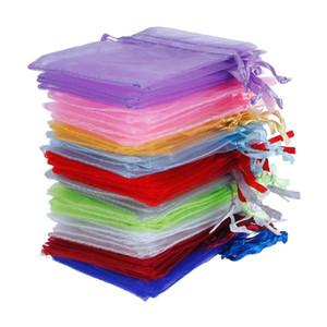 """100 Unids / set 2.8 """"X 3.5"""" Organza Organizador de la Joyería Bolsas Holder Wedding Party Regalo de Navidad Favor Bolsas de Dulces 7 x 9 cm # 225535"""