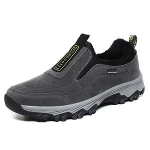 Zapatillas de deporte al aire libre del invierno Hombre Zapatos de senderismo Hombres Cómodo Zapatos resistentes al desgaste Hombre Zapatos Calzado Botas de senderismo para hombres ancianos