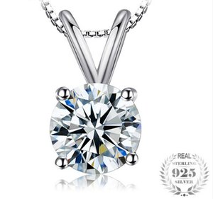 JewelryPalace Classic Round 1ct Solitaire Ciondolo 925 gioielli in argento sterling per le donne Accessori Non includere una catena