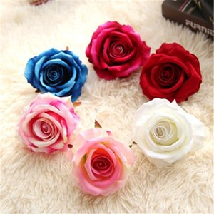 Artificiale Rose Flowers Head 10pcs / lot all'ingrosso Wedding Flowers Home Decorativi Fiori di seta Regali di compleanno Mazzi di ghirlande Forniture
