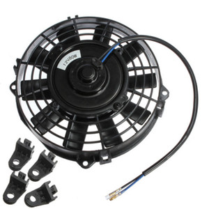 Freeshipping 7 pulgadas radiador eléctrico / Intercooler 12v Slim Cooling Fan + Kit de montaje