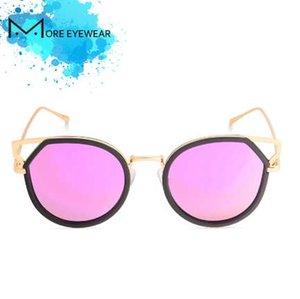 NUOVO Round New Fashion Oversized Ear Featured Occhiali da sole per le donne Occhiali da sole a specchio polarizzati