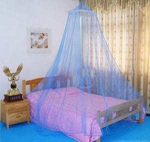 Súper Oferta Elegante Encaje Redondo Insecto Cama Canopy Red Cortina Dome Poliéster Ropa de cama Mosquito Net Muebles