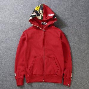 인쇄 Sportwear 코트 조깅하는 사람 여성 Tracksuit 풀오버 양털 스웨트 Crewneck 블랙 힙합 후드 티 남성 상어 입 의류 S-2XL