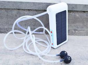 Pompe à oxygène solaire de charge et de plein air extérieure AP001 pêche pompe à oxygène 6LED lampe solaire alimentation mobile Air Pumps