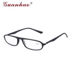 Guanhao Titanium Ultralight Soft Frames Lunettes TR90 Frames Resin Lens Hommes Femmes Myopie Optique Lunettes de lecture