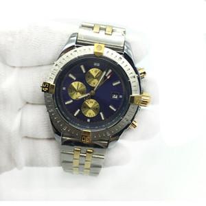 Venta caliente reloj para hombre 1884 azul dial automático mecánico de dos tonos de acero inoxidable clásico hombres relojes masculinos relojes de pulsera envío gratis