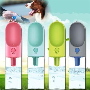 Щенок Cat Кормление бутылки воды Портативный 400ML собаки Открытый воды Диспенсер Pet герметичным Миски Supplies 89cz CY