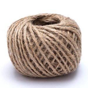 Woven 30M Roll Natural Rope DIY Tag Label Hang Rope Wedding Home Decorative Twine Jute String Gardening Cord