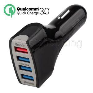최고 Qualtiy QC 3.0 4USB 7A 적응이 빠른 삼성 갤럭시를 들어 홈 여행 차량용 충전기 플러그 케이블 usb 케이블을 충전