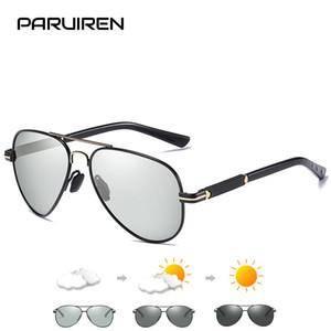 gafa PARUIREN Marca Designer Sunglasses Men polarizado Vintage Luxo óculos de sol de alta qualidade Photochromic Retro oculos