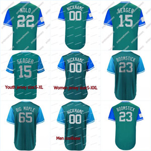 "2018 Giocatori Weekend 65 Paxton ""Big Maple"" 23 Cruz ""Boomstick"" 51 ""Ichiro"" 15 Seager ""Seager"" 23 Cruz ""Boomstick"" Maglie"