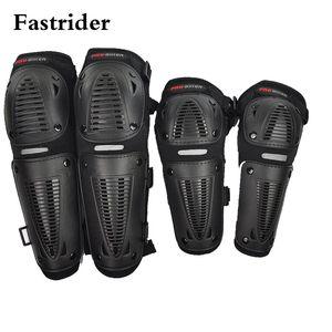 Fastrider 4pc/set Motorcycle Off-road racing elbow&knee protector motocross motor protection sliders racing knee pads black