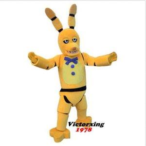 Новый взрослый милый бренд мультфильм FNAF Золотой Бонни Кролик талисман костюм необычные платья горячие продажа партии костюм свободный корабль