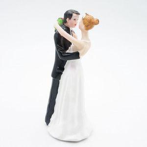 الجدول العملي المركزية زينة الزفاف حفل كعكة زخرفة العريس العروس زوجين تمثال الراتنج دمية يسهل حملها الصغيرة 15zh cc