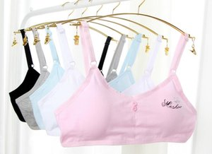 wholesale Girl tank tops girl sports bra girl vest Cotton no steel comfortable Students yoga Bra with inner pad strap adjustable A119