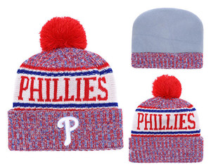 Sıcak satmak kış Bere Örme Şapkalar PHILLIES beanies şapka basketbol beyzbol futbol kış kasketleri şapkalar 1000 +