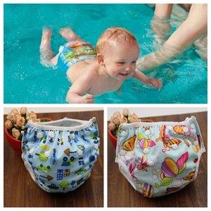 Unisex de tamaño libre a prueba de agua ajustable pañales de piscina piscina pañales pañales de bebé reutilizable piscina lavable pañal 16 color