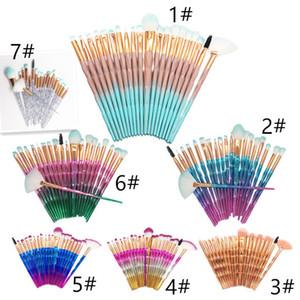 Yeni 20pcs elmas Makyaj Fırçalar takımları Pudra Fondöten Göz Farı Fırçası Setleri Yukarı Fırçalar Profesyonel Makyaj Güzellik Araçlar olun