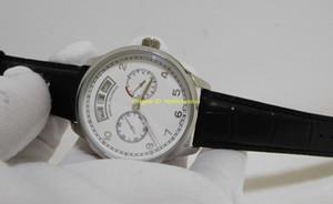 Nuovo orologio da uomo di lusso 44.2mm IW503502 bianco Portugieser calendario annuale movimento automatico cinturino in pelle da uomo Orologi da uomo