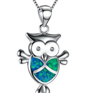 Moda argento riempito blu Imitati Opal Sea Turtle Collana con ciondolo per le donne femminile animale matrimonio Ocean Beach regalo gioielli