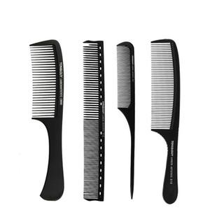 من ألياف الكربون غطاء مشط مشط تلميح ذيول الصلب إبرة مزدوجة فرشاة الشعر حلاقة البلاستيك مشط فرشاة الشعر
