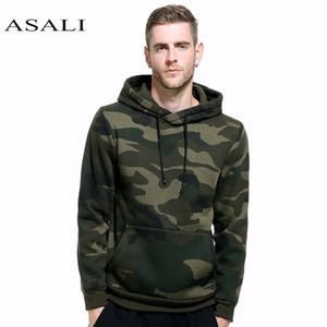 ASALI Camouflage Hoodies Men 2018 New Felpa Maschio camo Felpa Con Cappuccio Hip Hop Autunno Inverno Felpa Con Cappuccio Militare US Plus Size