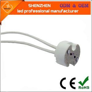 GU5,3 cerâmica suporte da lâmpada MR16 destaque adaptador soquete da lâmpada G4 lâmpada de halogéneo de silicone base de arame tecida silicone Fio