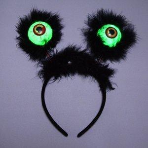 Yeni Tasarım Cadılar Bayramı LED Hairband Parlak Gözküresi Kafa Saç Hoop Kostüm Aksesuarları Parti Favors (Rastgele Renk)