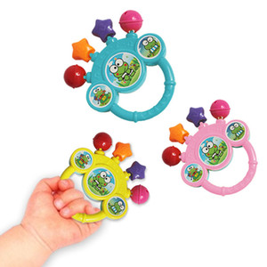 2017 New Cartoon Infant Baby Bell Rattles Newborns Toys Hand Toy For Children Instruments Music Toy Baby