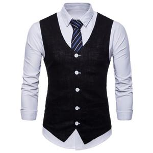 Mode Style britannique Bonbons Couleur Coton Slim Suit Vest Hommes Casual Couleur unie Slim à capuche Slim Business Vest Pour les hommes