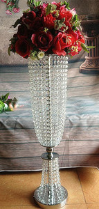 82cm Tall Crystal Flower Stand Arcylic Wedding Decoration Centre Table Chandelier Gold Silver Centerpiece Decor Event Marriage