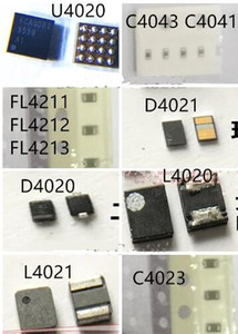 8 teile / satz Für iPhone 6S Hintergrundbeleuchtung Kit U4020 IC + Spule L4020 4021 + Diode D4020 4021 + Kondensator C4023 4041 4043 + Filter FL4211 4212 4213