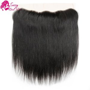 Straight Malaysian Closure Top Piece Cheap 13*4 Lace Front Closure Weave Virgin Human Hair Malaysian Hair Silk Top Frontals SASSY GIRL