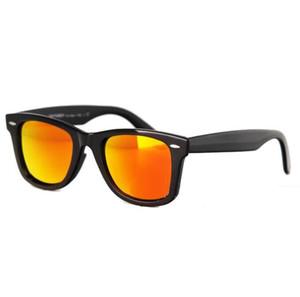 52mm Polarized Matt Black Frame Blue Lens Sunglasses glass Lenses Steel Hinge Beach Sunglass 3N