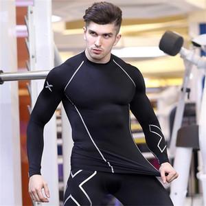 2020 Nouvelle compression shirt manches longues T-shirt GYMNASES Fitness Vêtements Impression rapide Lycra sec culturisme Crossfit Tops