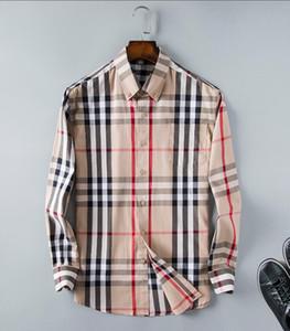 2019 chemise à carreaux de culture d'entreprise américaine de marque, chemise à manches longues en coton de marque de designer de mode chemise à rayures co-robe chemise 33