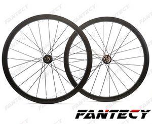 700C tam karbon fiber jantlar 38mm derinlik 23mm genişlik disk fren bisiklet Kattığı / Tübüler Yol wheelset UD mat finish
