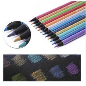 12pcs Metallic Pencil Set --Artist 0.3MM Decor Crayon de couleur pour DIY Photo Ablum, fabrication de cartes, papier noir, dessin, livre de coloriage