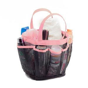 Cepler Su Geçirmez Örgü Yıkama Banyo Malzemeleri Depolama Sepeti Şampuan ve Sabun için swming sonra Su Geçirmez Kozmetik Sepeti