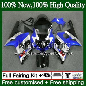 본체 스즈키 블루 은색 GSXR 1000 CC K2 GSX-R1000 00 02 28MF3 GSXR1000 00 01 02 GSXR-1000 GSX R1000 2000 2001 2002 페어링 차체