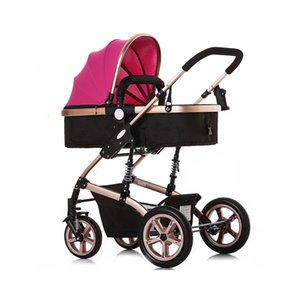 Baby Stroller With Explosion-Proof Rear Wheel Baby Carrier Folding Infant Carriage Folding Sit Lie Alloy  Toddler Carriage