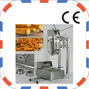 Бесплатная доставка 5L Руководство 5 Насадки Churros Maker Machine + 6L 220 В 110 В Электрическая фритюрница Churros можно положить onchurros корзину и Churros пищевой прицеп