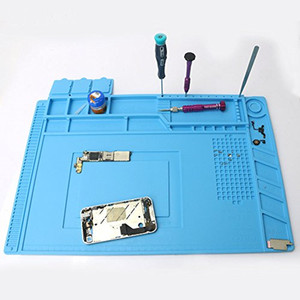 Esteira do reparo do relógio do telemóvel, ferramentas do reparo do parafuso do silicone da isolação térmica Almofada de manutenção da plataforma de mesa para o ferro de solda de BGA