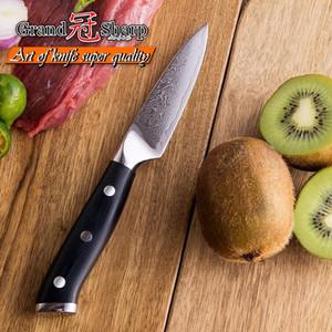 GRANDSHARP 3.5 '' Damascus Paring knife Coltello da cucina giapponese in acciaio Damasco VG10 High Carbon Peeling Coltello da cucina con scatola regalo